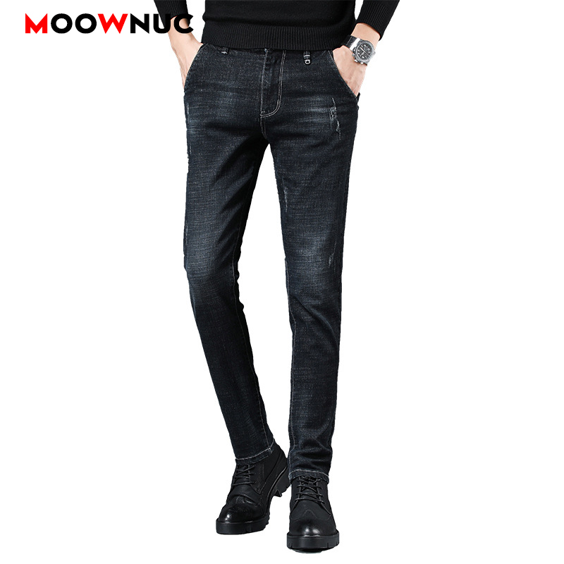 Streetwear Jeans Male Trousers MOOWNUC Autumn Pants Classic Mens Jeans Skinny Denim Jeans For Men Slim Designer Casual Straight