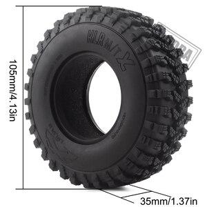 """Image 4 - 4 pièces 1.9 """"caoutchouc Voodoo KLR pneus de roue 105*35mm pour 1:10 RC chenille axiale SCX10 D90 TF2 MST Tamiya"""