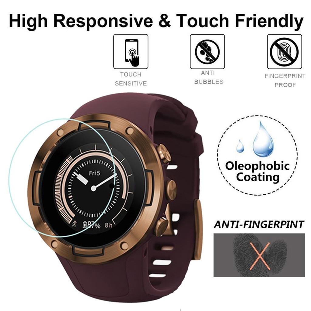 Clear Film Tempered Glass For SUUNTO 5 Smart Watch Screen Protector Vidrio Templado Para Reloj Bubble Free Anti Scratch 9h Glas