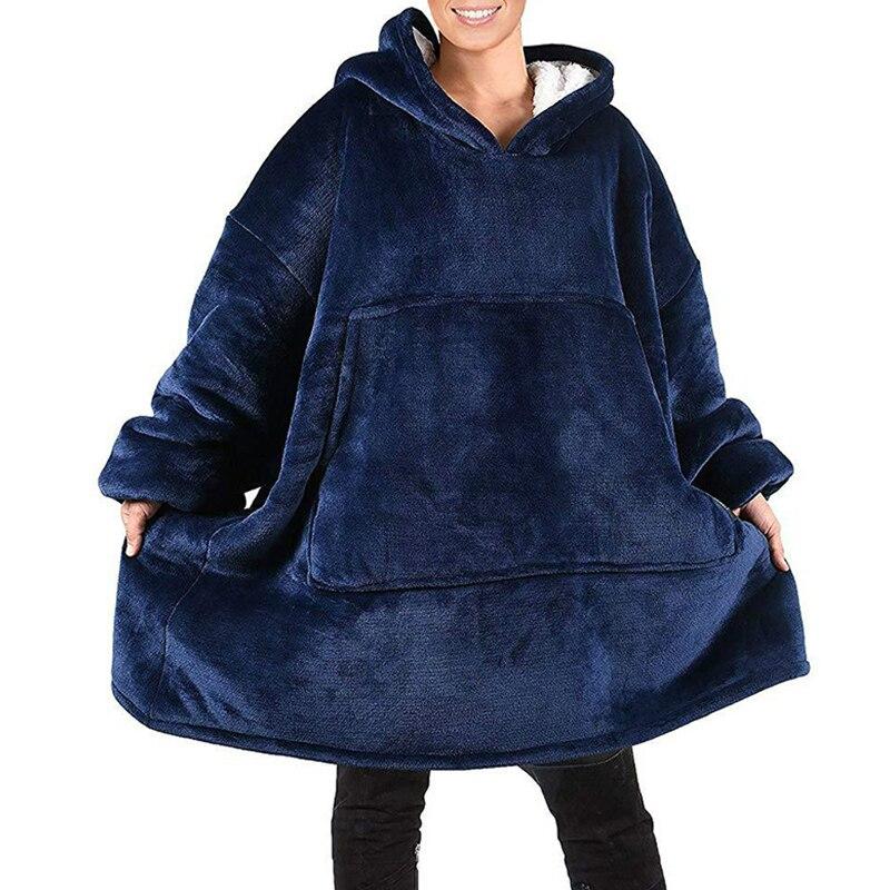 Oversized Hoodie Women Blanket With Sleeves Warm Fleece Sweatshirt Gaint Blanket Hoodie Bluzy Damskie Sudadera Mujer