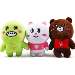 Macio bonito engraçado amigos recheado brinquedo do cão de estimação squeaky soundinosaur coelho brinquedo para cães filhote de cachorro brinquedo boneca bichon poodle chihuahua