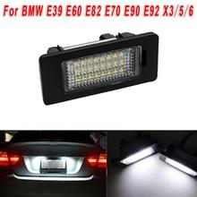 Для BMW 5 серия E60 E39 E61 E70 E71 E72 E82 E84 E88 E90 E91 E92 E93 12V автомобильный светодиодный номерной знак светильник 6000K ксенона Запчасти 12V