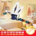 Мультяшная креативная красочная люстра-Стрекоза для детского сада  лампа для детской комнаты  милая индивидуальная люстра с изображением ж...