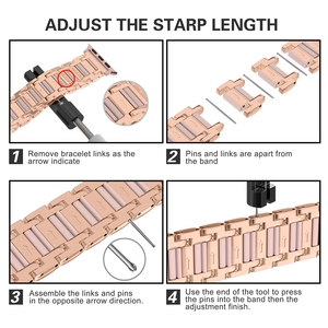 Image 3 - For Apple Watch Strap Series 5 4 3 2 1 40mm 44mm 38mm 42mm Women Men Zinc Alloy Band Iwatch metal Replacement Strap