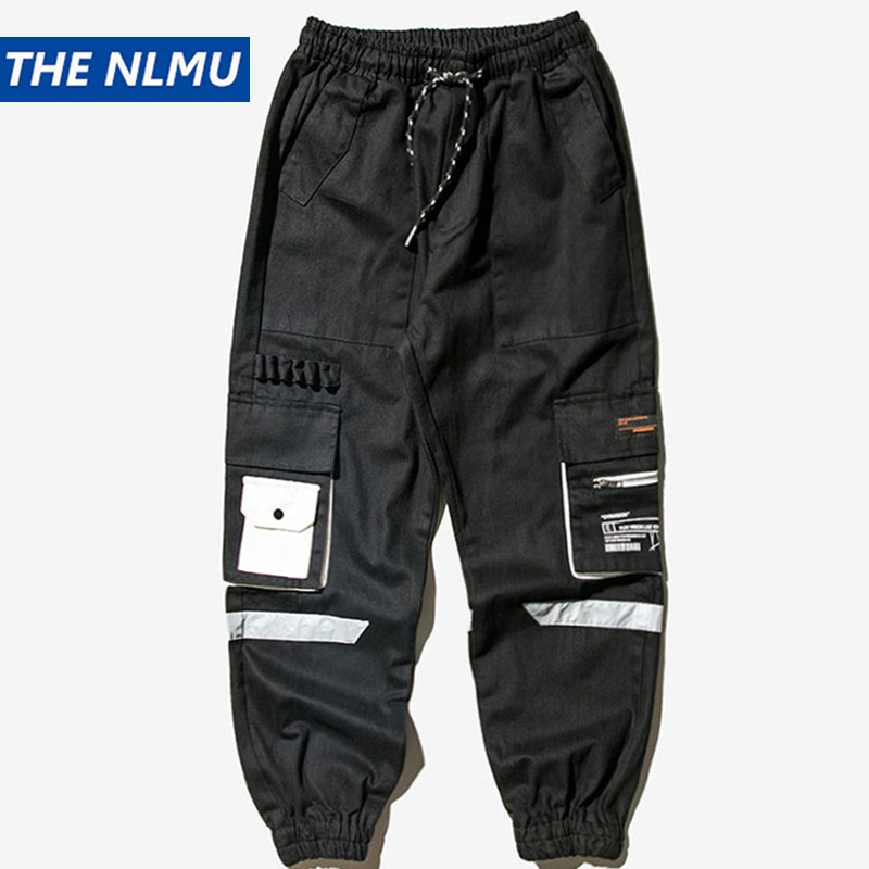 Men's Cargo Pants Streetwear Harajuku Joggers Trousers Male Multi-pocket Tactical Pants Hip Hop Elastic Waist HH72