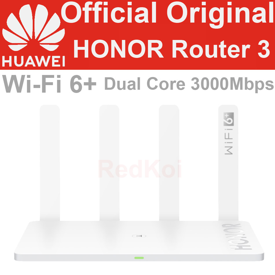 Original Huawei HONOR Router 3 Dual-core WiFi 6+ 3000Mbps 2.4GHz 5GHz Dual-Band Gigabit Rate WIFI Wireless Router AX3 Pro