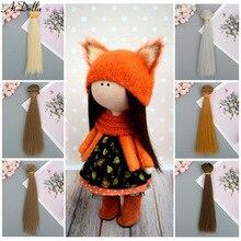 15*100cm doll hair Synthetic Hair For Dolls Bjd 1/4/3/6 Accessories Straight Wig Hair tresses For Dolls Bjd DIY hair for dolls все цены