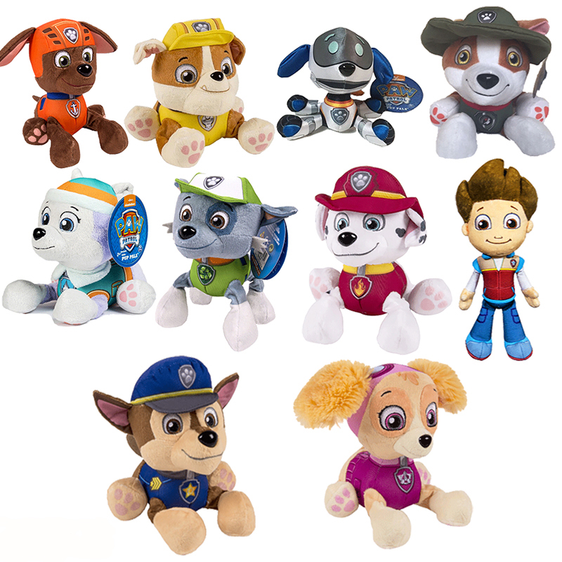 Paw patrol dog puppies toy plush doll puppy patrol toys doll Everest Patulla Canina action anime character children's toy gift