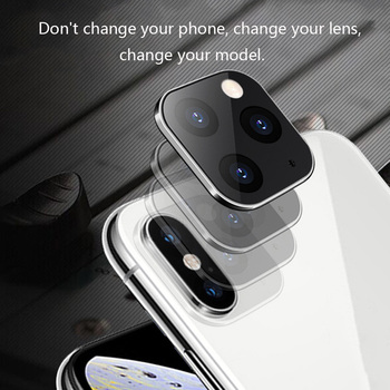 1/2pcs For iPhone Apple X XS MAX Seconds Change for 11Pro for iPhone 11 PRO MAX Lens Sticker Modified Camera Protective Cover