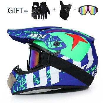 Casco de Motocross todoterreno profesional ATV cascos cruzados MTB DH Casco de motocicleta de carreras DOT Dirt bicicleta capaciete de Moto Casco