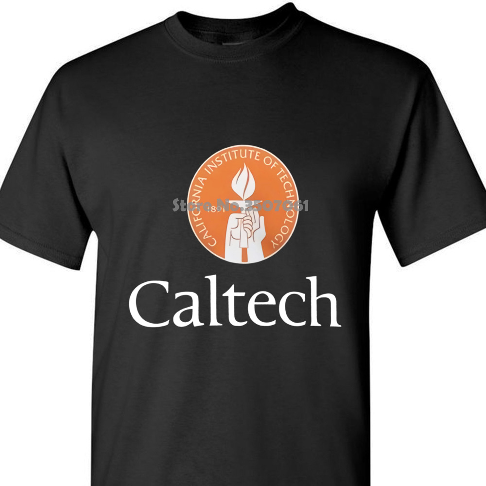 California Institute of Technology CALTECH Logo Mens Black T-Shirt Size S to 3XL