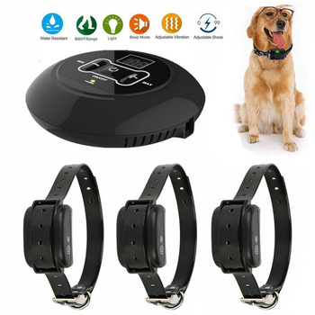 2019 New 500M Wireless Electronic Fence Dog Collar Waterproof Beep Shock Dog Training Collar Pet Products For Dog Repeller
