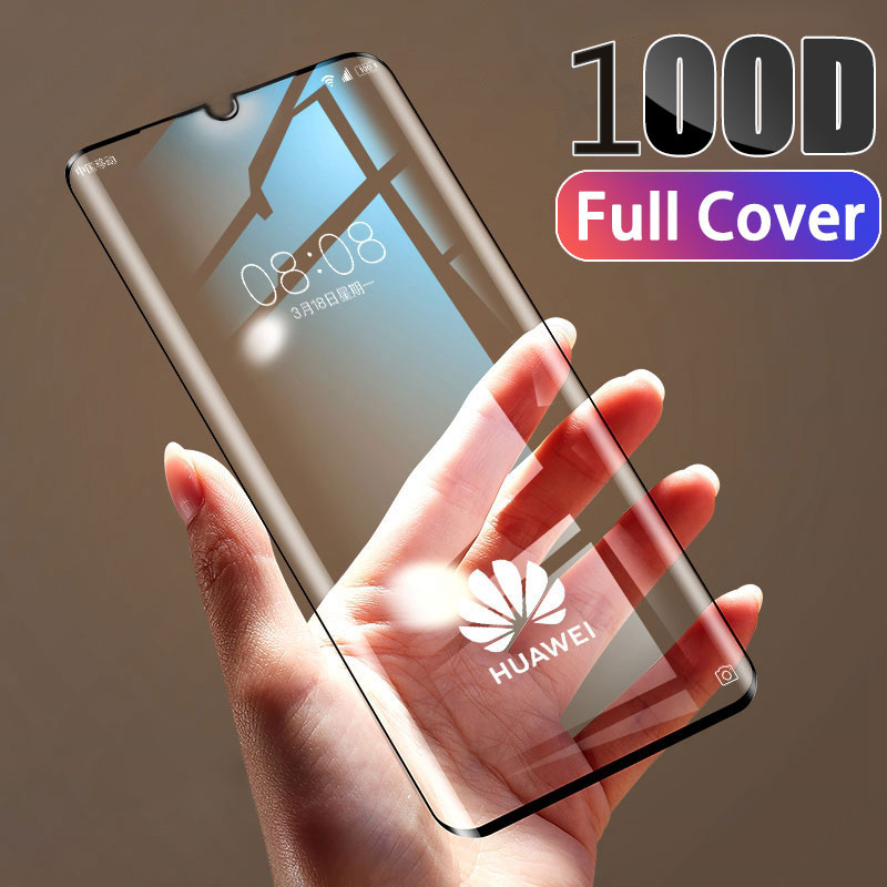 100D Tempered Full Cover Glass Screen Protector For Huawei P30 P20 Lite Pro Screen Protector Film For Mate 20 10 Lite Pro Glass