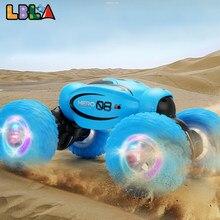 Lbla d875 rc dublê 4wd carro torção drift offroad deformável controle remoto unidade veículo modelo de máquina transformador brinquedo presente criança