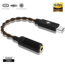 HIDIZS S1 USB C DAC المحمولة مضخم ضوت سماعات الأذن USB نوع C إلى 3.5 مللي متر سماعة محول محول الكابل لماكوسكس الروبوت ويندوز