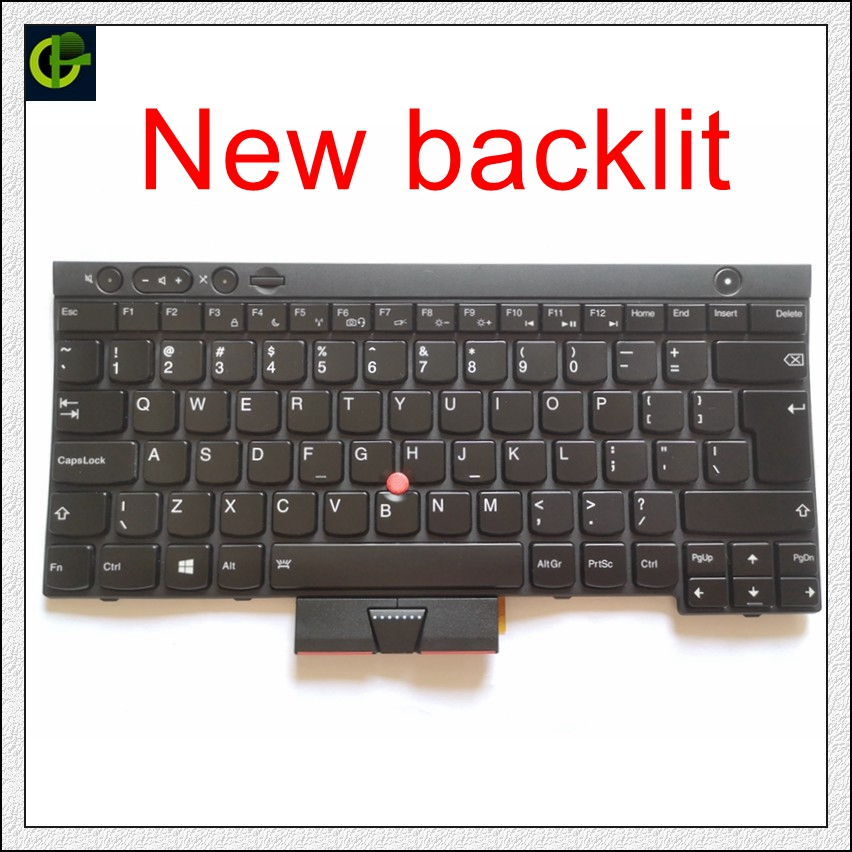 Backlit New English Keyboard For Lenovo ThinkPad L530 T430 T430S X230 W530 T530 T530I T430I 04X1263  04W3048 04W3123 US