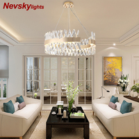 led pendant light bedroom champagne gold lustre living room crystal pendant lamps kitchen fixtures light hanging lamps dining