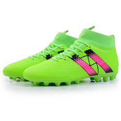 Outdoor Men Boys Soccer Shoes Football Boots High Ankle Kids Cleats Training Sport Sneakers Size 35-44 Dropshipping