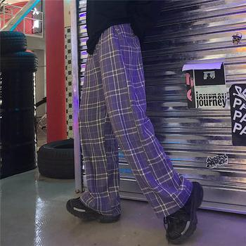 Purple Plaid trousers  2