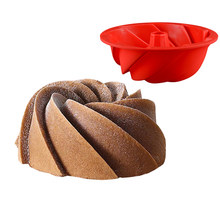 Swirl Shaped Silicone Chiffon Cake Mold Pudding Jelly Chocolate Moulds Dessert Mousse Baking Form Pan Cake Decoration Tool