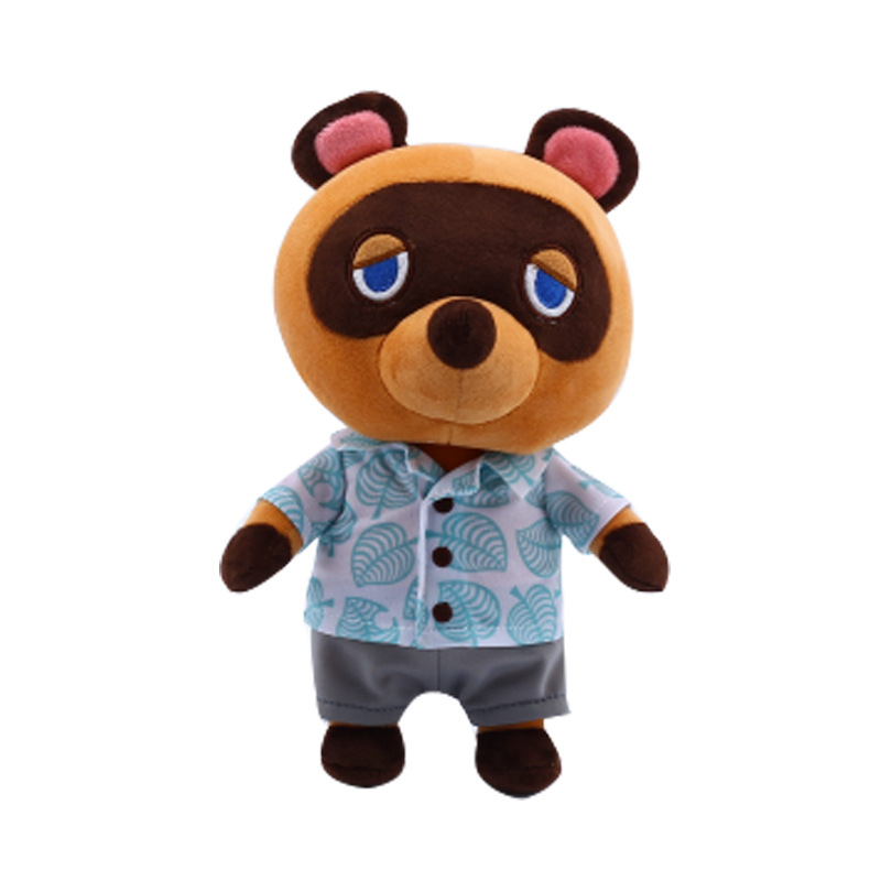 28/38/48cm Tom Nook Plush Dolls Raccoon Plush Animal Crossing switch Game character Cartoon doll Isabelle pillow Soft pillow Gif image