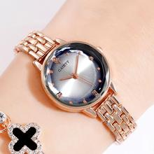 Classic Metal Women's Watch Gradient Aurora Luxury Starry Sky Rose Gold Steel Watch Female Small Dial Quartz Wrist Watches 2019 все цены
