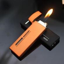 Зажигалка с видимым газовым окном креативный ультратонкий портативный