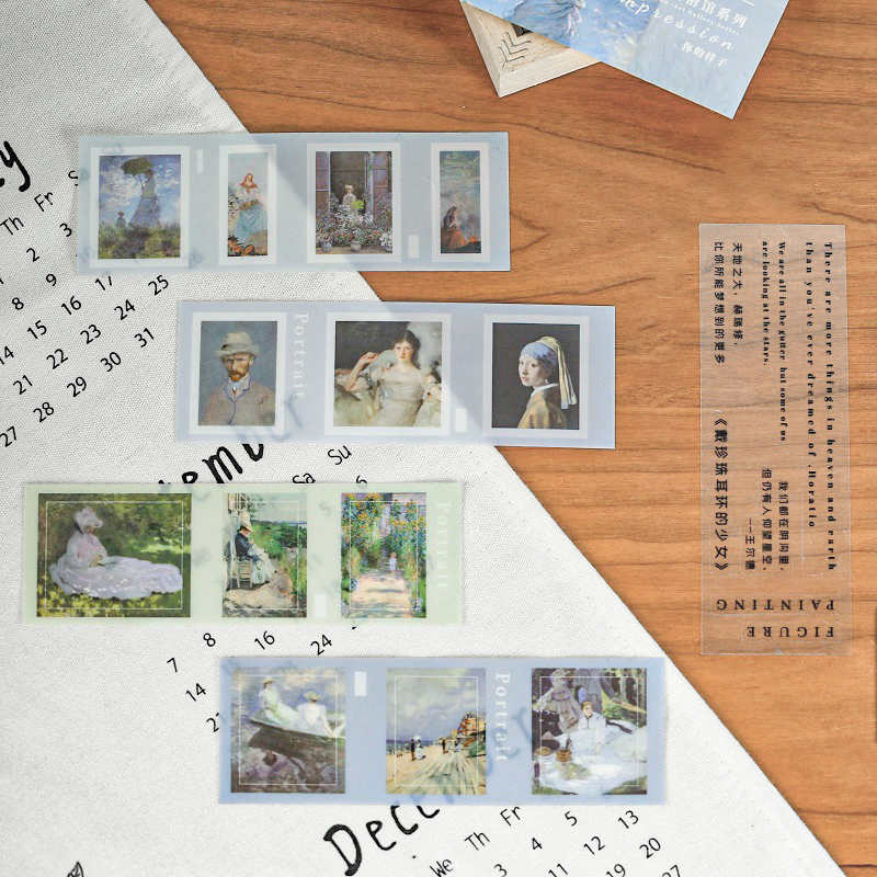 Impression Art Museum Series Bullet Journal Decorative Stickers Scrapbooking Stick Label Diary Album Stationery Painting Sticker