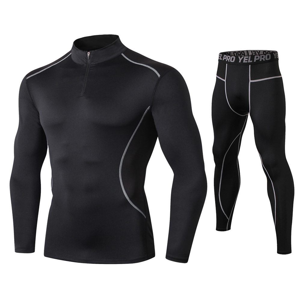 Fanceey High Collar Winter Thermo Underwear Thermal Men Long Johns Thermal Clothing Rashgard Kit Sport Compression Underwear
