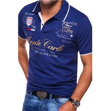 Мужская хлопковая рубашка поло zogaa Повседневная с коротким