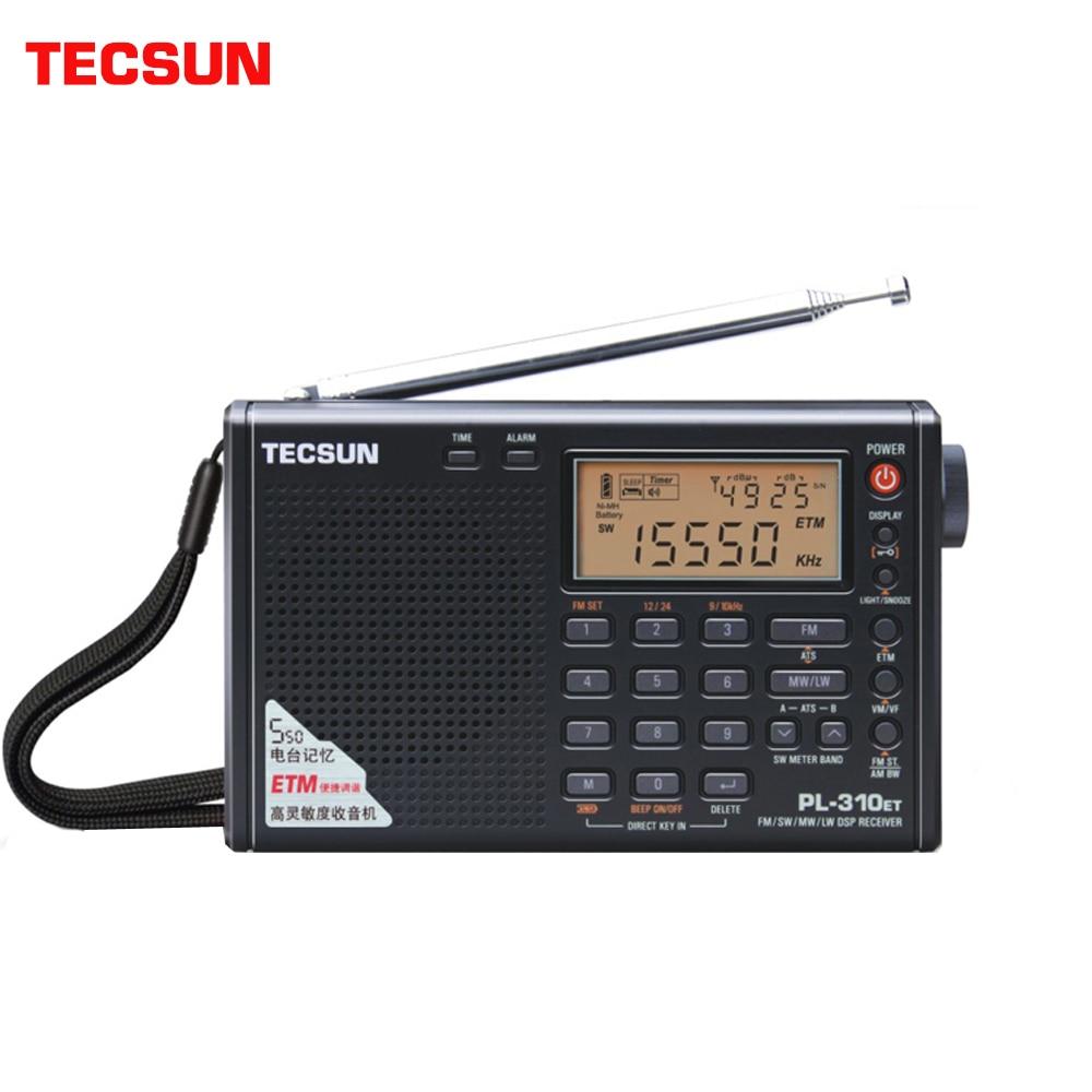 Tecsun PL 310ET Full Band Radio Digital LED Display FM/AM/SW/LW Stereo Radio with Broadcasting Strength Signal Radio  - AliExpress