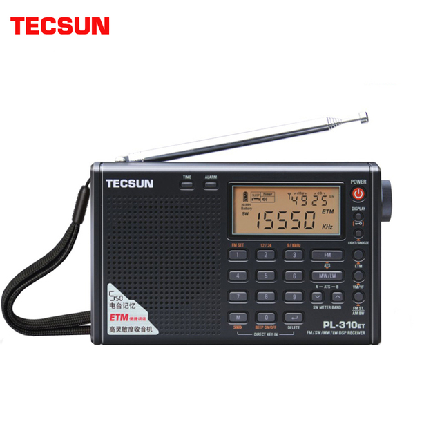 Tecsun PL 310ET 풀 밴드 라디오 디지털 LED 디스플레이 방송 강도 신호가있는 FM/AM/SW/LW 스테레오 라디오