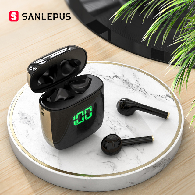 SANLEPUS Led Earphone TWS Wireless Bluetooth Headphones Stereo Earbuds Headset With Wireless Charging For Xiaomi Android iOS Consumer Electronics