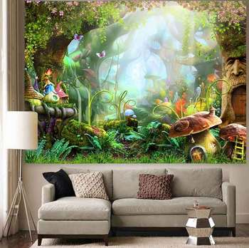 Simsant Psychedelic Shrooms Tapestry Colorful Abstract Trippy Tapestry Wall Hanging Tapestries for Home Dorm Fantasy Decor 43