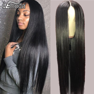 30 Inch Closure Wig Straight Lace Front Human Hair Wigs Pre Plucked 4x4 Lace Front Wig Lemoda Remy Hair Long Wig(China)