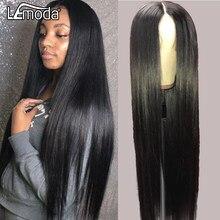 4x4 dentelle fermeture perruque droite dentelle avant perruques de cheveux humains pour les femmes noires pré plumé Lemoda brésilien Remy cheveux perruque 150% densité