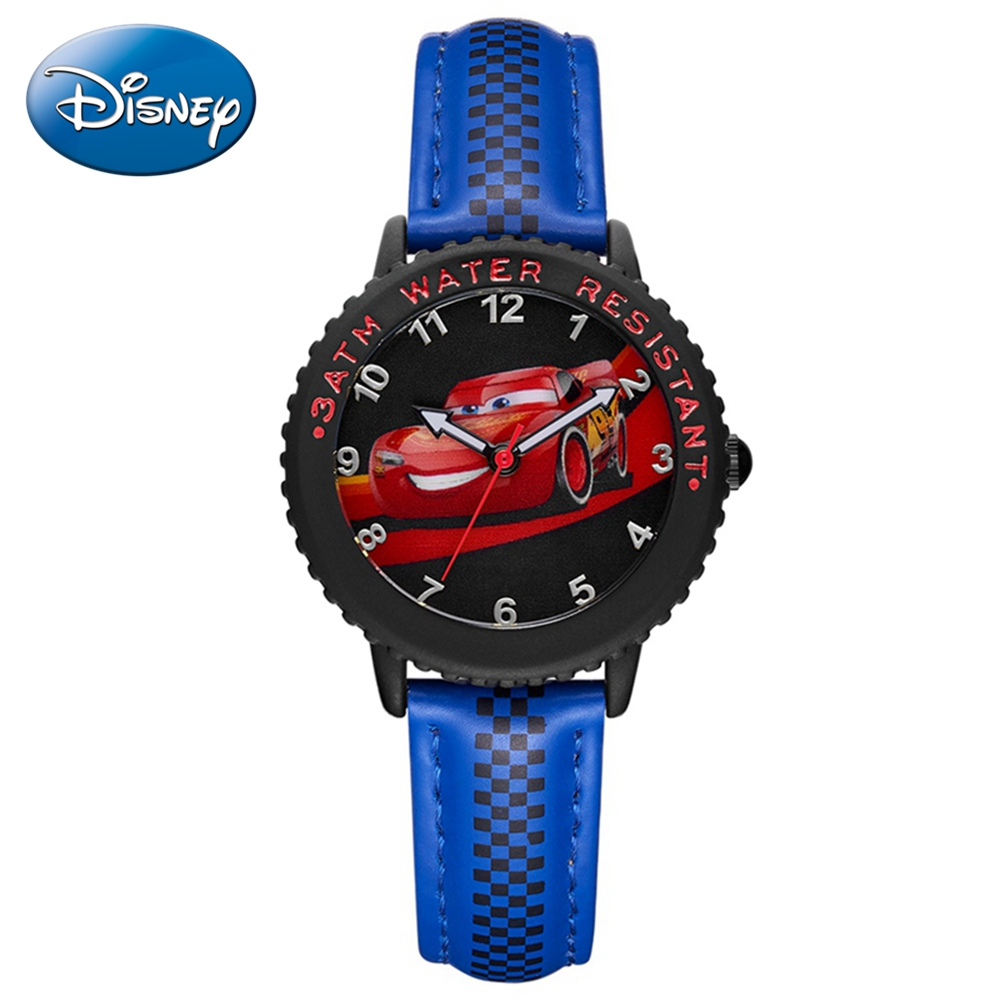 Cars Lightning McQueen Jackson Storm Children Quartz Disney Watch Boy Sport Fashion PU Waterproof Watches Kid Wristwatch Gift