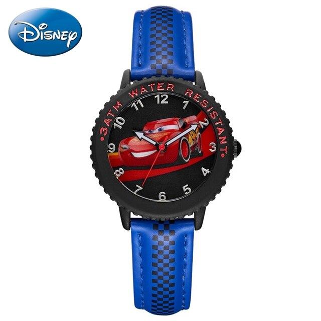 Cars Lightning Mcqueen Jackson Storm Kinderen Quartz Disney Horloge Jongen Sport Mode Pu Waterdichte Horloges Kid Horloge Gift
