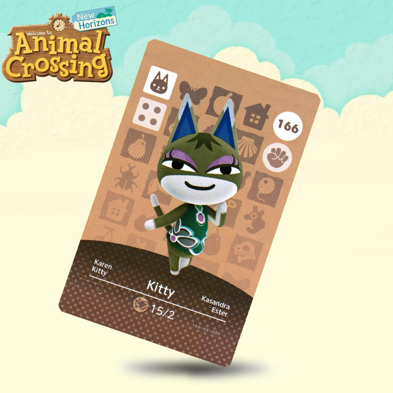 166 Kitty Animal Crossing Card Amiibo Cards Work For Switch NS 3DS Games