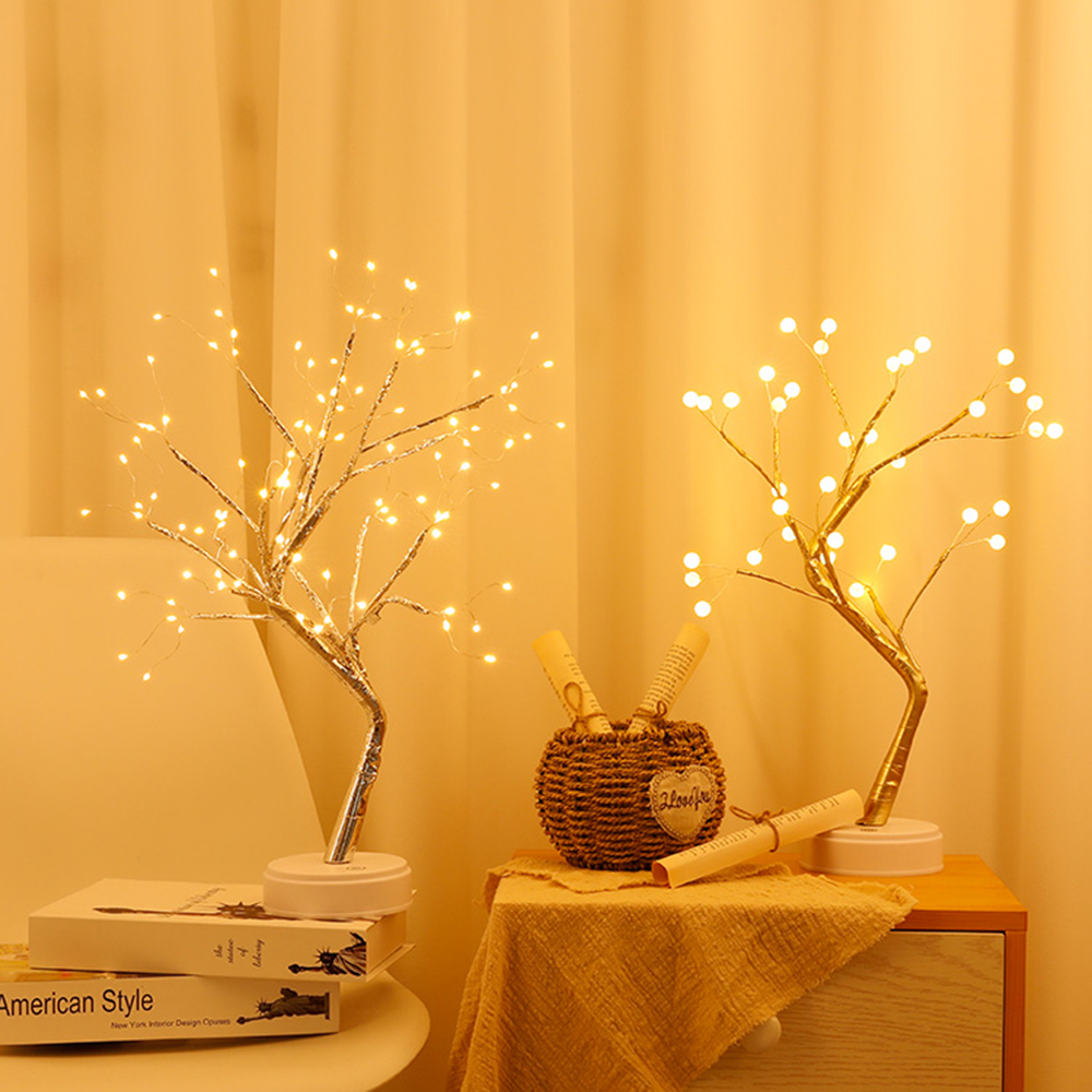 36/108 LED USB 3D Table Lamp Copper wire Christmas Tree Night light for  Home Holiday bedroom indoor kids bar Decor fairy light|LED Night Lights| -  AliExpress