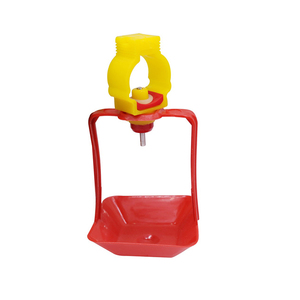 Image 2 - 40 Sets Of 25mm Chicken Nipple Drinker Hanging Cups Chicken House Drinking Water Cups Poultry Bird Cage Waterline