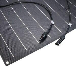 Image 3 - Çin esnek GÜNEŞ PANELI 100W/200W 300W /400W monokristal güneş pili esnek panel güneş için 12V 24 volt güneş enerjisi sistemi kiti