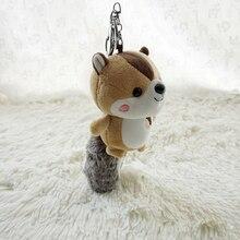 17CM Cute Big Tail Squirrel Keychain with Scented Plush Squirrel Keychain Bag Car Plush Pendant Plush Animal Doll