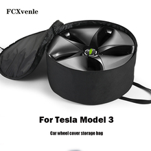FCXvenle Car Wheel Cover Storage Bag Portable Carrying Wheel Hub Cover for Tesla Model 3 Accessories Oxford Cloth Car Styling