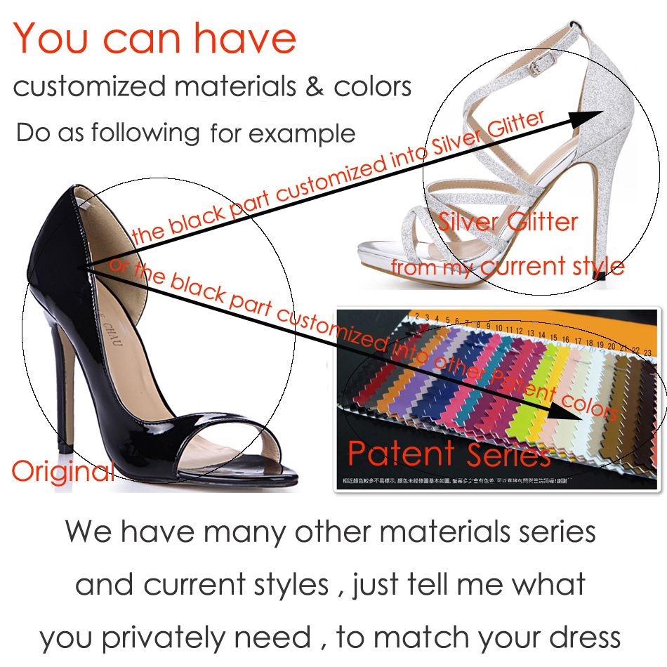 CHMILE CHAU Glitter Wedding Shoes Women Peep Toe Thin High Iron Heels Bridal Ladies Pumps Plus Sizes 10 Zapatos Mujer 3845 a6 in Women 39 s Pumps from Shoes
