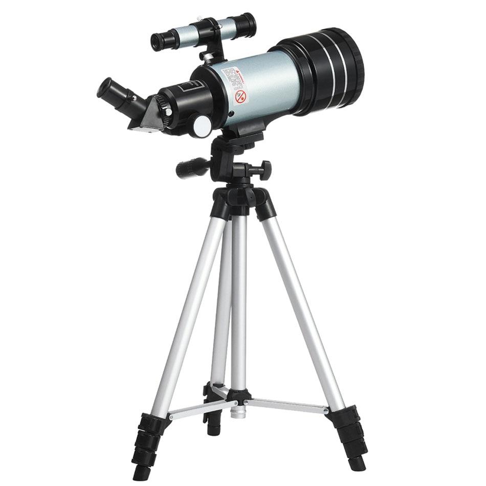 F30070 Monocular Telescope Astronomic Professional Finderscope 48 Degree Zenith Mirror With Tripod Outdoor Monocular Zoom