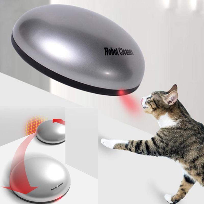 Interactive Cats Chasing Toy Funny Cat Sweeping Robot Pet Dog Cat Hair Cleaner Electric Hair Sucker Pets Household Removal Artif