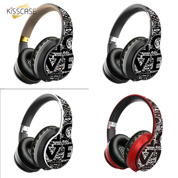 KISSCASE B1 Graffiti headset 5.0 Bluetooth Headset subwoofer sports headphones fone bluetooth sem fio for ios Android phone