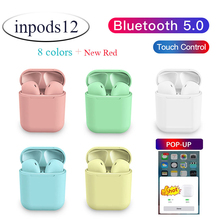 Macaron Inpods12 tws wireless Bluetooth headset super bass 3D surround sound for iOS Android PK i10 i12 i30 i60