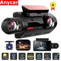FHD Автомобильный видеорегистратор, видеорегистратор с двойной записью, скрытый видеорегистратор, видеорегистратор 1080P, ночное видение, мон...